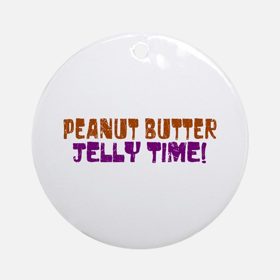 Peanut Butter Jelly Time Ornament (Round)