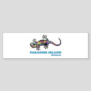 Paradise Island Gecko Bumper Sticker