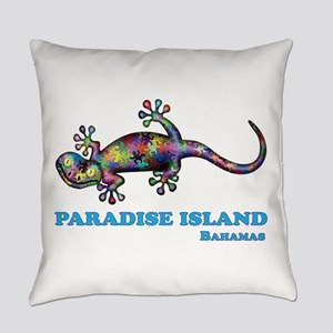 Paradise Island Gecko Everyday Pillow
