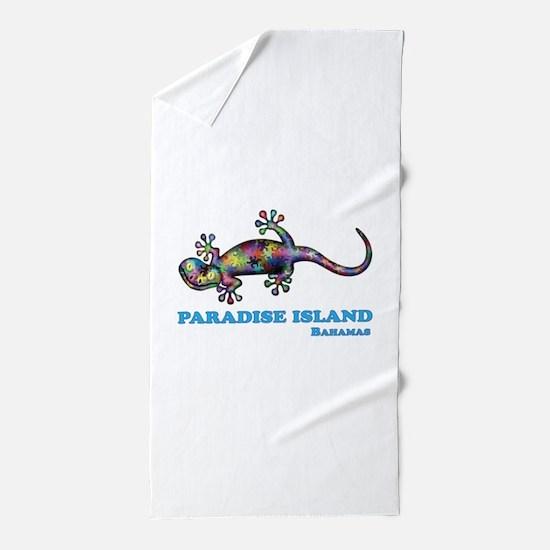 Paradise Island Gecko Beach Towel