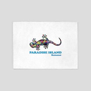 Paradise Island Gecko 5'x7'Area Rug