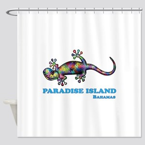 Paradise Island Gecko Shower Curtain