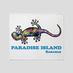 Paradise Island Gecko Throw Blanket