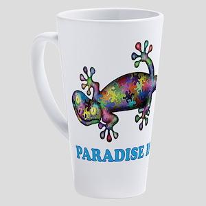 Paradise Island Gecko 17 oz Latte Mug