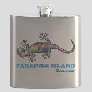 Paradise Island Gecko Flask