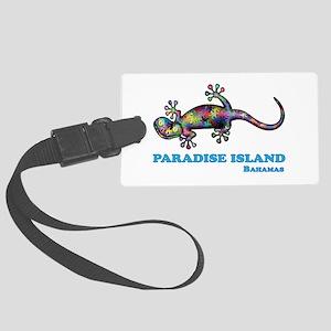 Paradise Island Gecko Large Luggage Tag