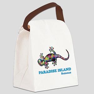 Paradise Island Gecko Canvas Lunch Bag