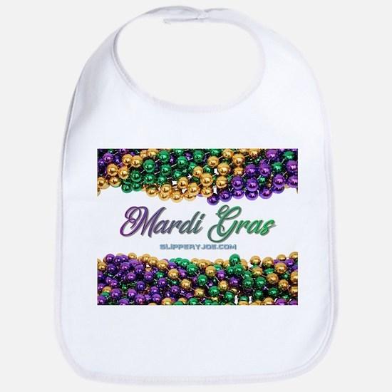 Mardi Gras 2018 beads Baby Bib