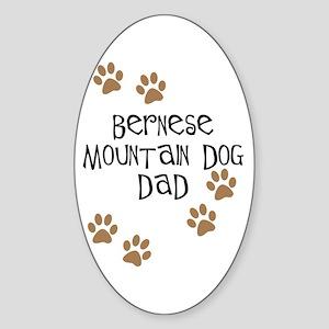 Bernese Mt. Dog Dad Oval Sticker