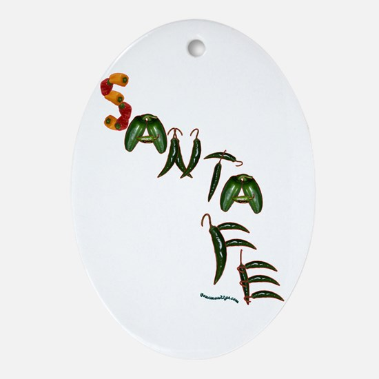 Santa Fe Oval Ornament