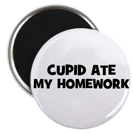 "Cupid Ate My Homework 2.25"" Magnet (10 pack)"