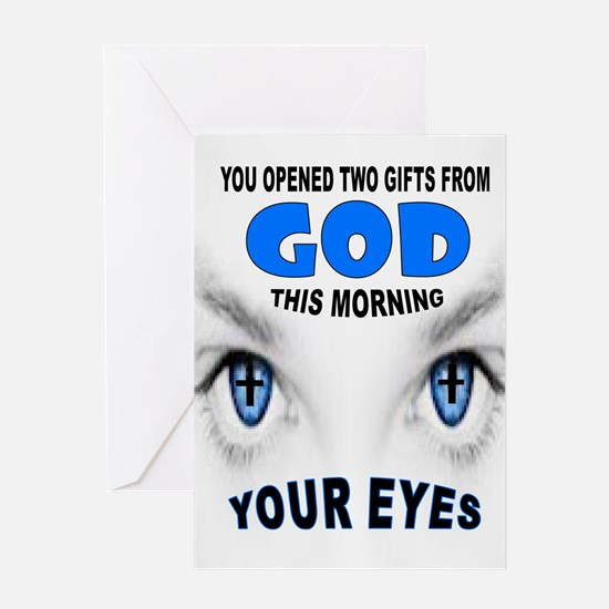BLUE EYES Greeting Cards