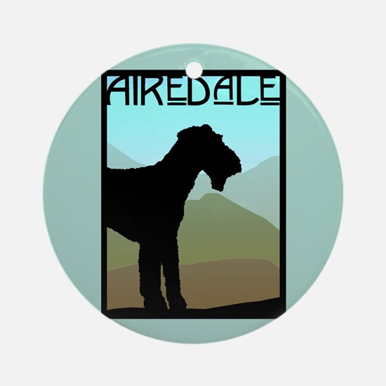 Craftsman Airedale Ornament (Round)