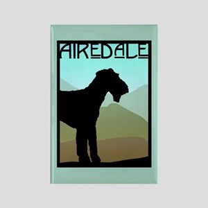 Craftsman Airedale Rectangle Magnet