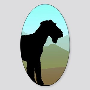 Craftsman Airedale Sticker (Oval)