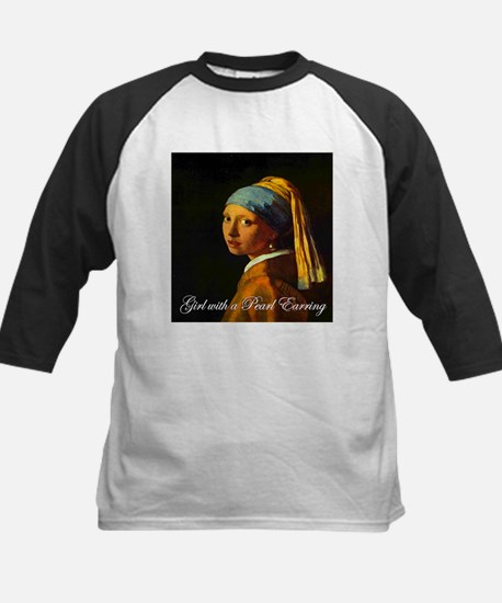 Girl with a Pearl Earring Kids Baseball Jersey