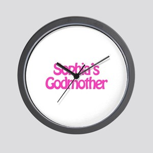 Sophia's Godmother Wall Clock