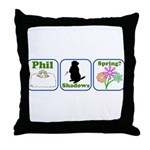 Phil, Shadows, Spring Throw Pillow
