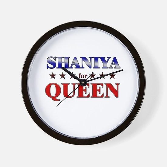 SHANIYA for queen Wall Clock