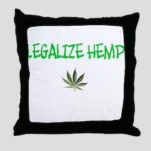 """Legalize Hemp"" Throw Pillow"