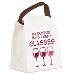 I need glasses Canvas Lunch Bag