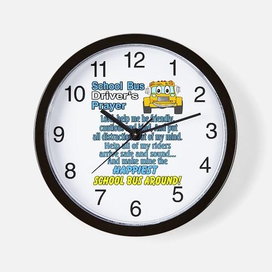 Cute School bus driver Wall Clock