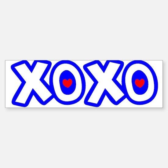 """XOXO"" Bumper Bumper Bumper Sticker"