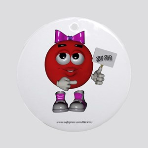 """Stem Cells Save Lives"" Ornament (Round)"