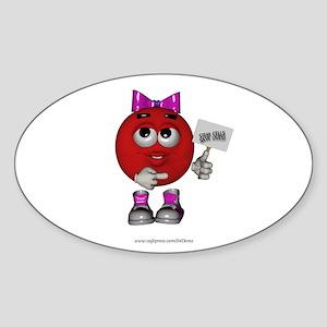 """Stem Cells Save Lives"" Oval Sticker"
