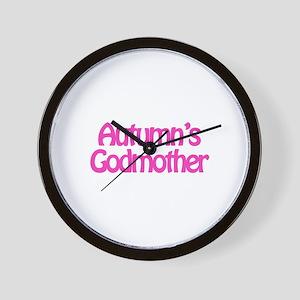 Autumn's Godmother Wall Clock