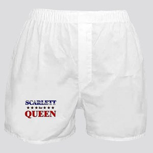 SCARLETT for queen Boxer Shorts