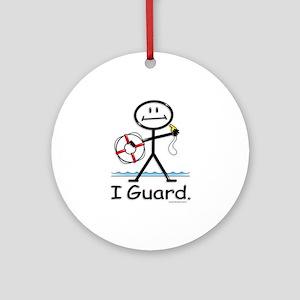 Lifeguard Ornament (Round)