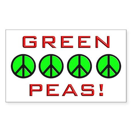 Green Peas, Green Peace Rectangle Sticker