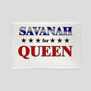 SAVANAH for queen Rectangle Magnet
