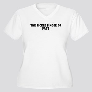 The fickle finger of fate Women's Plus Size V-Neck