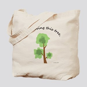Save A Tree Shopping Tote Bag