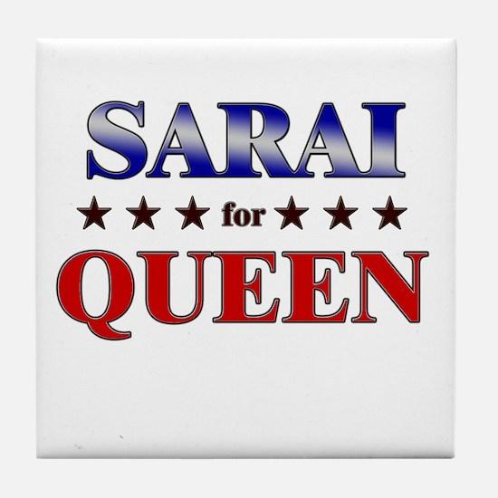 SARAI for queen Tile Coaster
