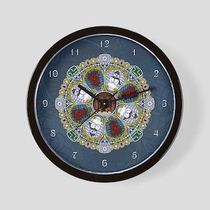 Winter Nouveau Wall Clock