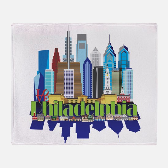Philly New Icon Throw Blanket