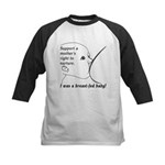 I was a breastfed Baby! Kids Baseball Jersey