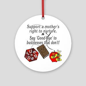 Support Breastfeeding moms, Goodbye... Ornament (R
