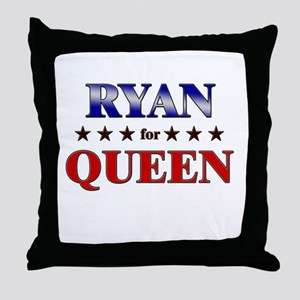 RYAN for queen Throw Pillow