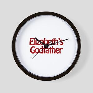 Elizabeth's Godfather Wall Clock
