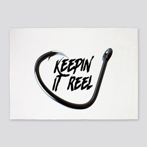fishing, keepin it reel 5'x7'Area Rug