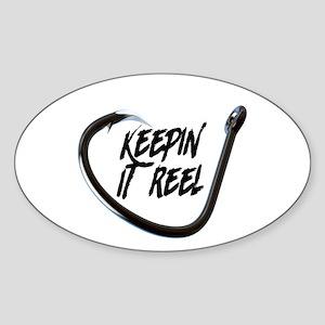 fishing, keepin it reel Sticker