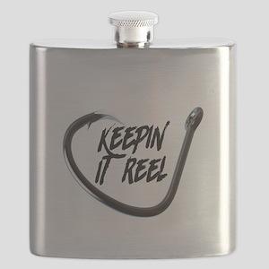 fishing, keepin it reel Flask