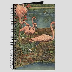 Vintage Retro Hialeah Park Miami Flamingos Journal