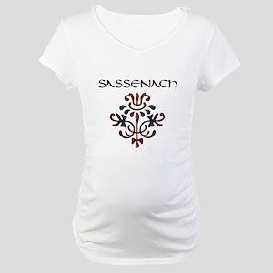 2-sassenach_large thistle Maternity T-Shirt
