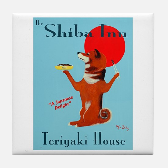 The Shiba Inu Teriyaki House Tile Coaster