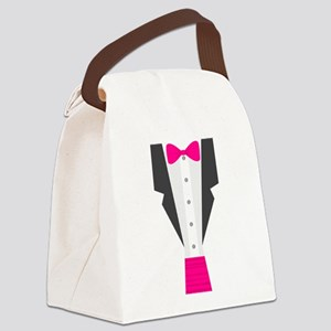 pink tux tuxedo Canvas Lunch Bag